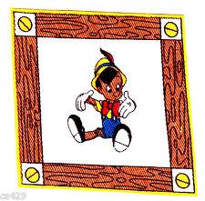 "3.5"" Disney Pinocchio Sitting Character Fabric Applique Iron On"