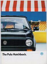 VOLKSWAGEN POLO HATCHBACK 1987-88 UK Opuscolo Vendite del mercato Base C CL RANGER