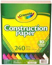 Crayola Papier de construction, 10 couleurs différentes, 240 feuilles arts & crafts,