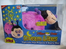 Dream Lites Mini Pillow Pet HOT PINK LADYBUG Night Light Projects Starry Sky New