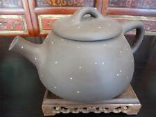 Rare Extra Large Chinese Vintage Yixing  Zisha Pottery  Signed Tea Pot (TP302)