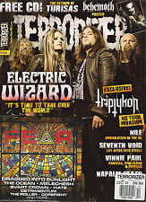 TERRORIZER UK #204 December 2010 ELECTRIC WIZARD Triptykon BEHEMOTH POSTER + CD