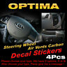 Steering Wheel Air Vent Black Carbon Decal Stickers 4P for KIA 2011-2015 Optima