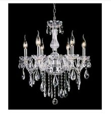 Traditional Crystal Chandelier Fixture - Ceiling Pendant - 6 Lights