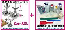 starter Kit base serigrafia  plastisol + cerniere x creare macchina serigrafica