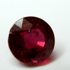 Earth mined treated ruby gem....round cut. 5 mm ..0.8-1 carat