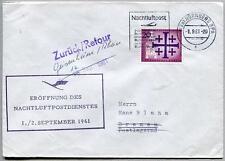 FFC 1961 Lufthansa PRIMO VOLO - Norimberga