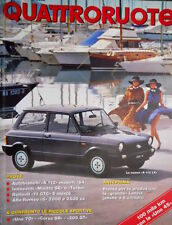 Quattroruote 342 1984 Alfa Romeo 6 2000 e 2500. Nuova A112 LX. Uno 45 [Q.31]