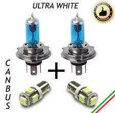 COPPIA LAMPADINE H4 EFFETTO XENON + 2 LUCI DI POSIZIONE 5 LED BA9S CANBUS