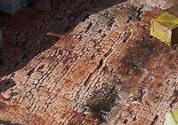 Downtown Deco Cast Set of 5 hydrocal brick cobblestone O Scale Buy 2, get 1 Free