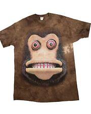 THE MOUNTAIN USA Big Face Cymbal Monkey T-Shirt NEW CREEPY *L* UNISEX HALLOWEEN