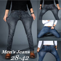 MEN Jeans Slim SUPER STRETCH FIT SLIM FIT Trousers Casual Pants SKINNY BLUE JEAN