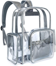 BuyAgain Large Clear Backpack Heavy Duty Transparent Backpack Bookbag for School