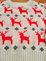 Vintage 1984 Reindeer Sweater Youth S Classic Original Holiday Christmas Retro