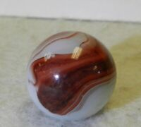 9727m Vintage Akro Agate Oxblood Marble .64 Inches