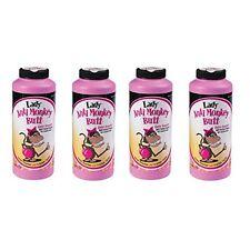 4 Pack LADY Anti Monkey Butt Powder w/ Calamine Powder 6oz