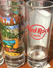 "Hard Rock Hotel ORLANDO 2016 4"" SHOT GLASS V16 City Tee Shirt GLASSWARE CORDIAL"