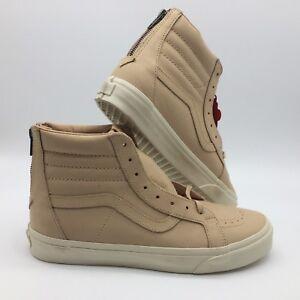 Vans Men/Women's Shoes ''Sk8 Hi Reissue Zip''--(Veggie Tan Leather)-- Tan