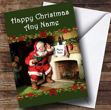 Santa's visita Navidad tarjeta de saludos personalizadas