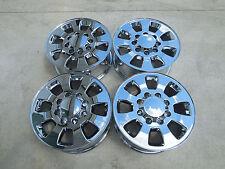 "18"" CHEVY SILVERADO 8x6.5 GMC SIERRA 2500HD FACTORY WHEELS CHROME plated"