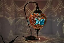 Handmade Fish Wall Table Natural Pumpkin Gourd Lamp Colored Beads Art Home Decor