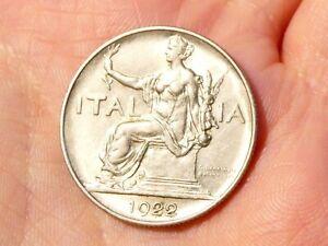 1922 Italy 1 Lire Coin #TS21