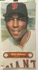 "1972 TOPPS  BASEBALL POSTER  #24  Willie McCOVEY San Francisco Giants  10"" X 18"""