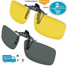 Eyelevel Sport Unisex USA Clip-On Polarizzate Rovesciato in su Occhiali da Sole