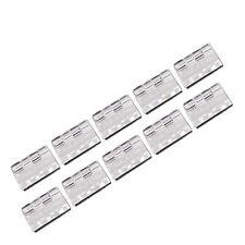 US Stock 12pcs Clear PMMA Acrylic Plastic Folding Plexiglass Hinge 30 x 33mm