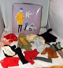 Lot Vintage 1962-1965 Mattel Ken Doll Case & Clothing Clothes Black Label