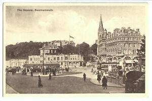 AK, Bournemouth, Dorset, The Square, belebt, um 1930