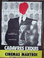 Affiche CADAVRES EXQUIS (L. Ventura / F. Rosi) 53x39 cm