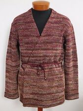 NWT Authentic MISSONI ORANGE LABEL WOOL Blend WRAP Cardigan Sweater IT-48 M