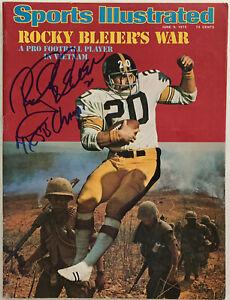 ROCKY BLEIER Signed June 9, 1975 Sports Illustrated Magazine w/Inscription - JSA