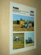Prospectus Tracteur FORD NEW HOLLAND TW II Tractor Traktor Prospekt Brochure