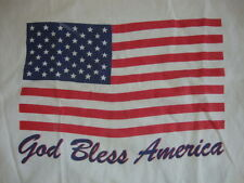 God Bless America Fourth Of July Summer White T Shirt Men's Size M