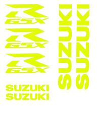 Suzuki GSXR Premium Aufkleber Set / GSXR Premium Sticker Set (Gelb Neon)
