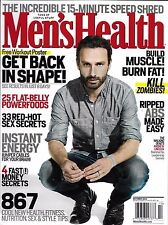 Men's Health Magazine Andrew Lincoln Aaron Rodgers Power Foods Energy Workouts