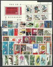 EAST GERMANY DDR 1966 COMPLETE YEAR STAMP COLLECTION 83v & 2 S/Sh MNH