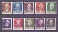 Berlin 1952 - Berühmte Männer MiNr. 91/100 postfrisch** - Michel 130,00 € (336)