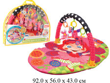 Children's Infant Rug Activity Gym & Play Mat With Arc And Rattles