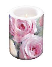 Pink Roses Wax Candle Lantern