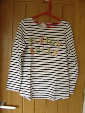Joules Sleigh Belle Harbour Print Long Jersey Top NEW (Tags) RRP £29.95 (Ref Z)