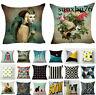 Cotton Linen Wholesale Pillow Case Sofa Car Waist Throw Cushion Cover Home Decor