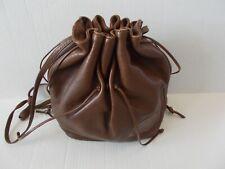 Carlos Falchi brown leather hobo crossbody handbag, alligator & snake embossed