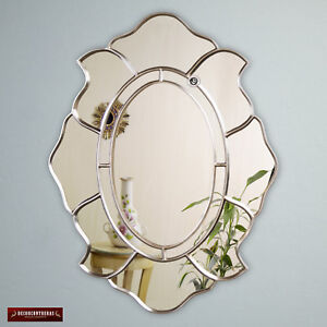 Silver Oval Accent Wall Mirror from Peru, Decorative Oval Mirror for wall decor