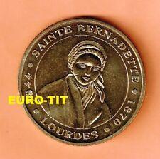 A  SAISIR  MEDAILLE TOURISTIQUE  MONNAIE DE PARIS   LOURDES   SAINTE  BERNADETTE