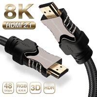 Lot 1.5FT-66FT HDMI 2.1/2.0/1.4V Cable | UHD 8K 120HZ 48Gbps Optical Fiber Dolby
