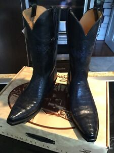 LUCCHESE **NEW**CLASSIC** LIMITED EDITION NILE CROCODILE BOOTS M/8.5 D