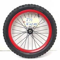 "16"" Front Red Bicycle Wheel w/ 2.125"" Power Rangers Tire - Mini-BMX Bike #j77"